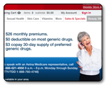 CVS.com landing page developed in tandem with partner Aetna.