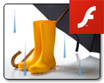 Flash animated banners for offsite promotion of CVS.com sale during rainy season. See animation >