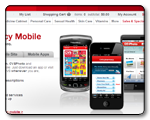 CVS.com mini-site detailing their mobile services based on competitive analysis.